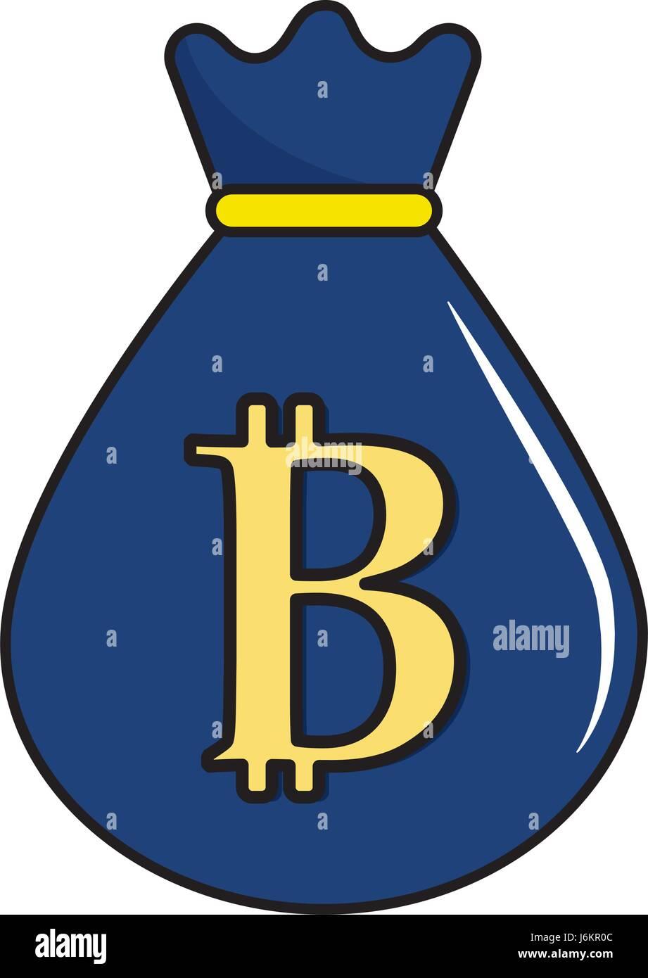 Bitcoin Icon Digital Money Symbol Stock Vector Images Alamy