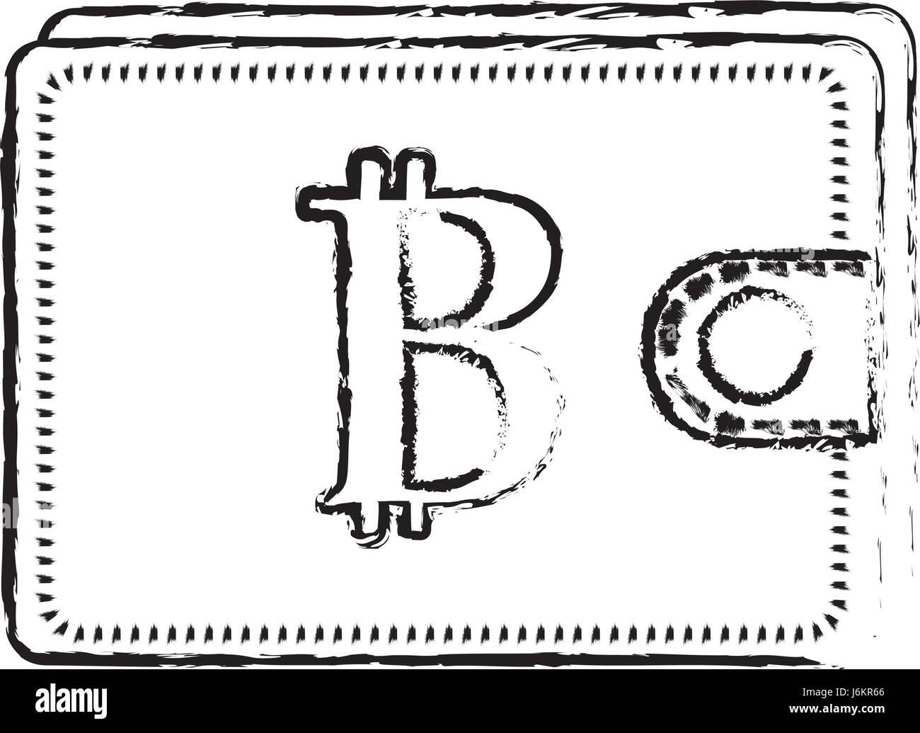 Bitcoin Icon Digital Money Symbol Black And White Stock Photos