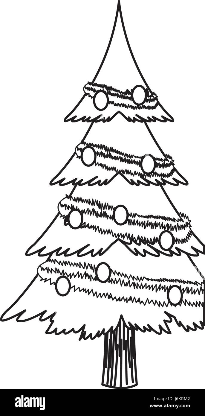 Outline Christmas Tree Stock Photos & Outline Christmas ...