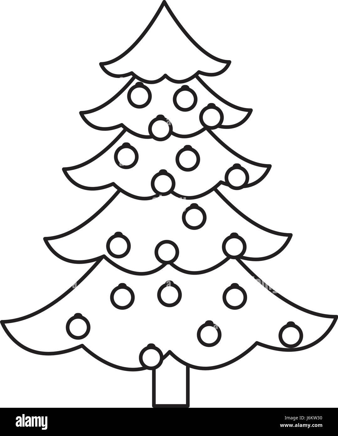 Outline Christmas Tree Stock Photos Outline Christmas Tree Stock