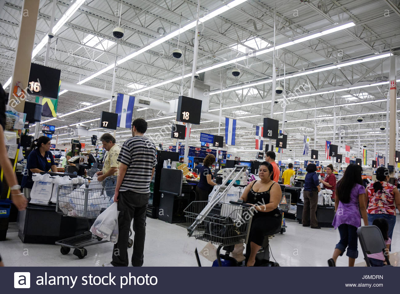 Miami Hialeah Florida Wal-Mart Walmart shopping check-out line queue