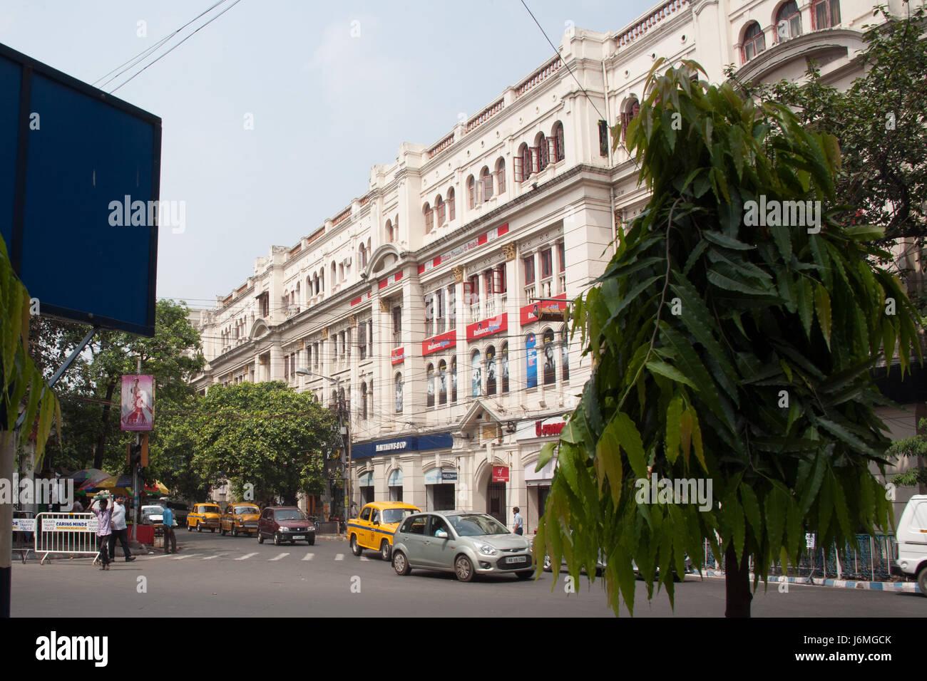 Park Street (officially Mother Teresa Sarani formerly Burial Ground Road a famous Kolkata  - Calcutta - thoroughfare - Stock Image