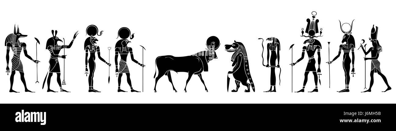 culture creature egypt monster banner gods mythology mythical profile travel - Stock Image