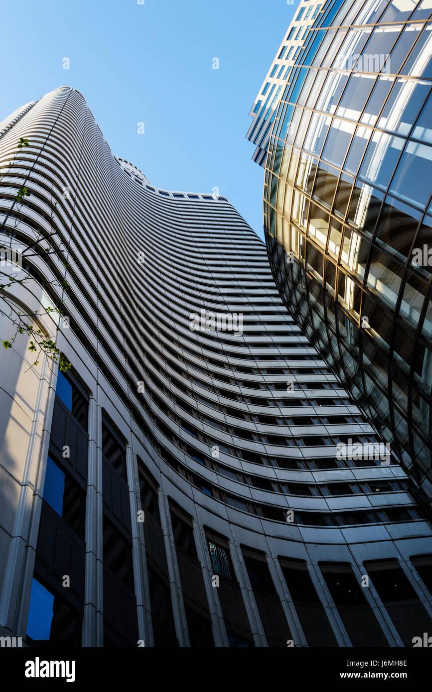New Otani garden hotel, looking upwards at this impressive hotel - Stock Image