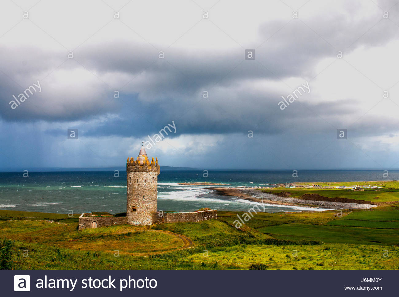 Doonagore Castle ,Doolin,County Clare ,Ireland. - Stock Image