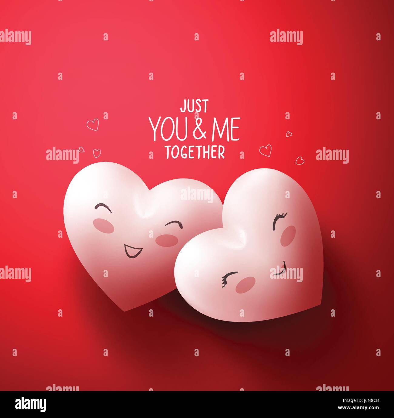 Sweet hearts of happy lovers for happy valentines day greetings in sweet hearts of happy lovers for happy valentines day greetings in red background with you and me together title vector illustration m4hsunfo