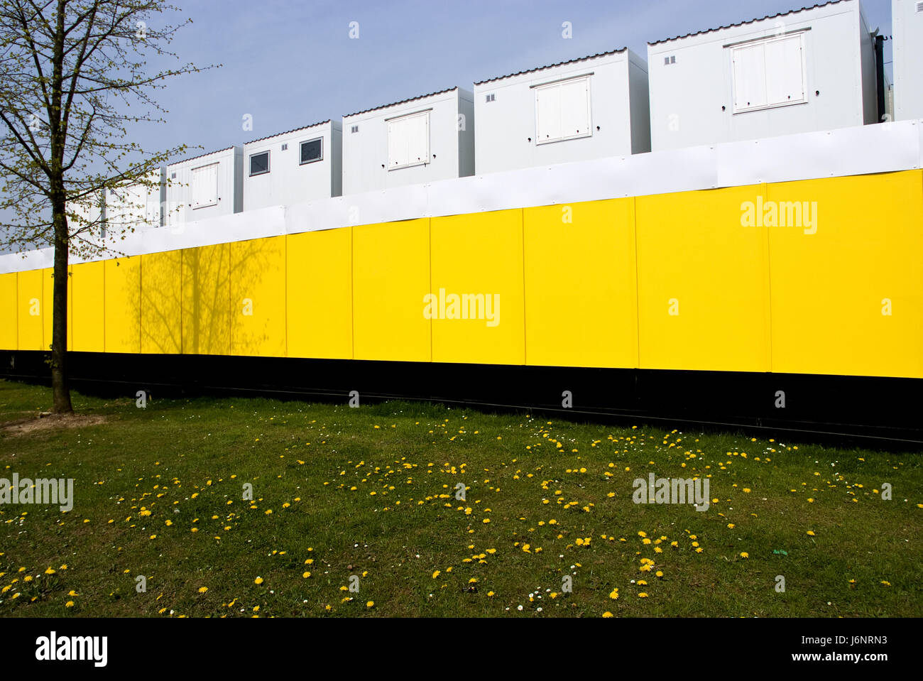 modern modernity stacked storage portable prefabricated secure construction - Stock Image