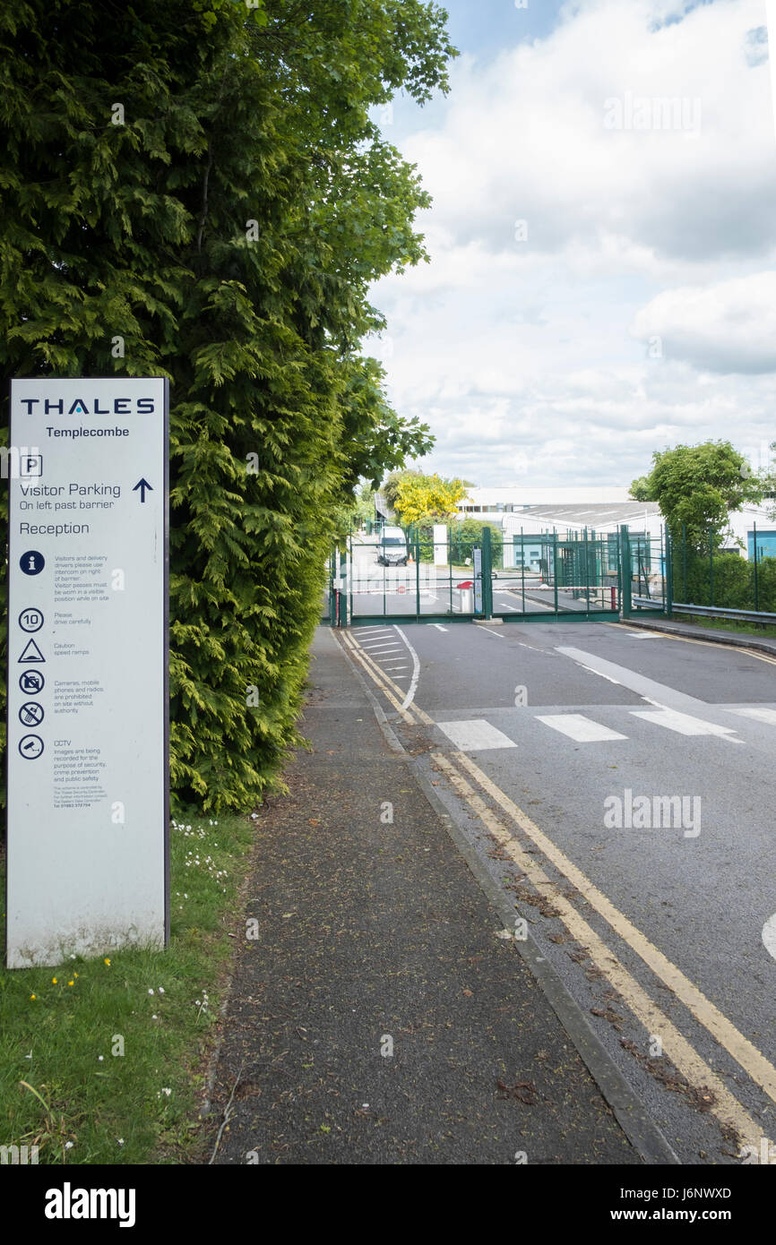 Thales Group is a French multinational company that designs and builds electrical systems and provides services - Stock Image