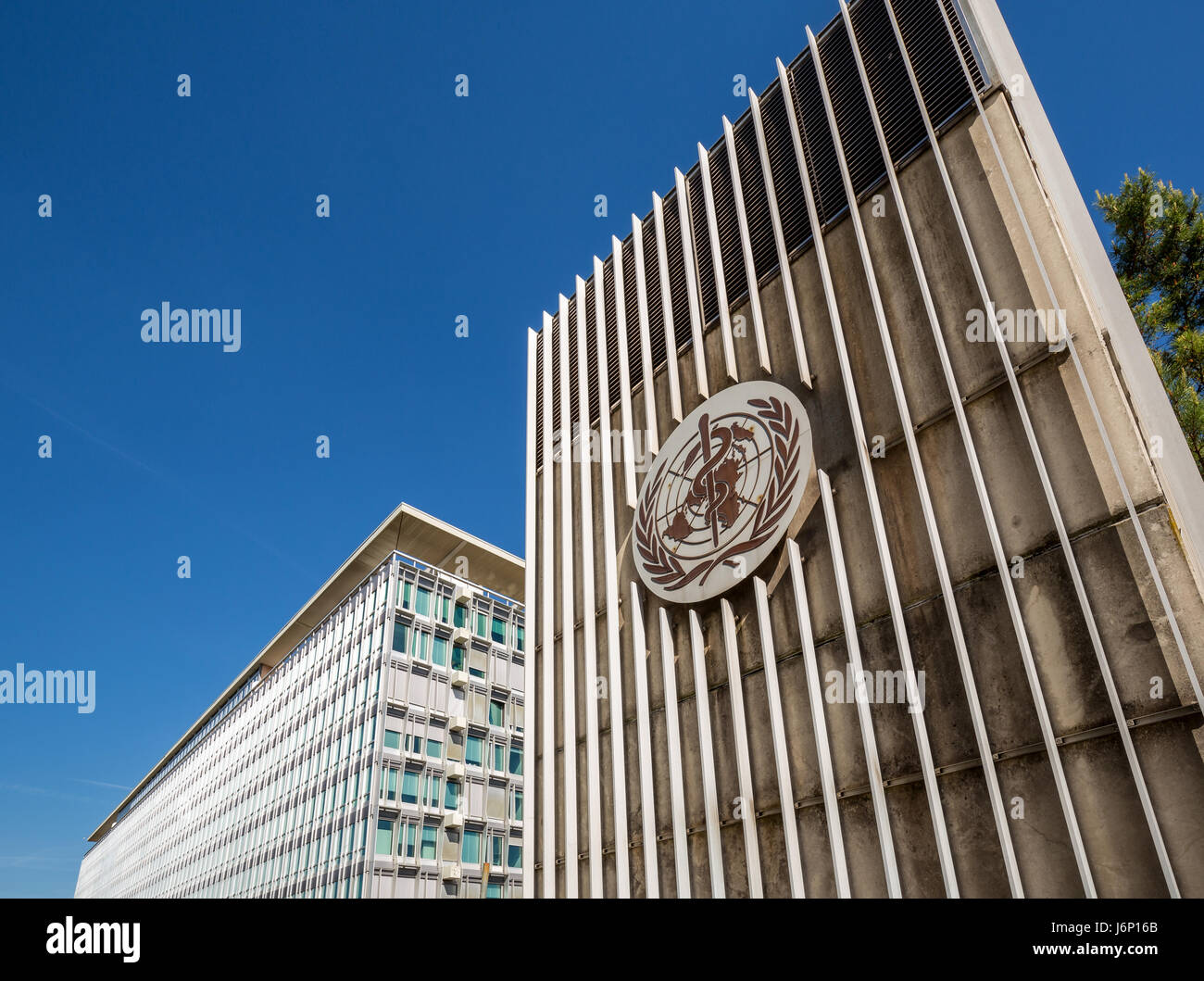 World Health Organization, WHO Headquarters, Geneva, Switzerland - Stock Image
