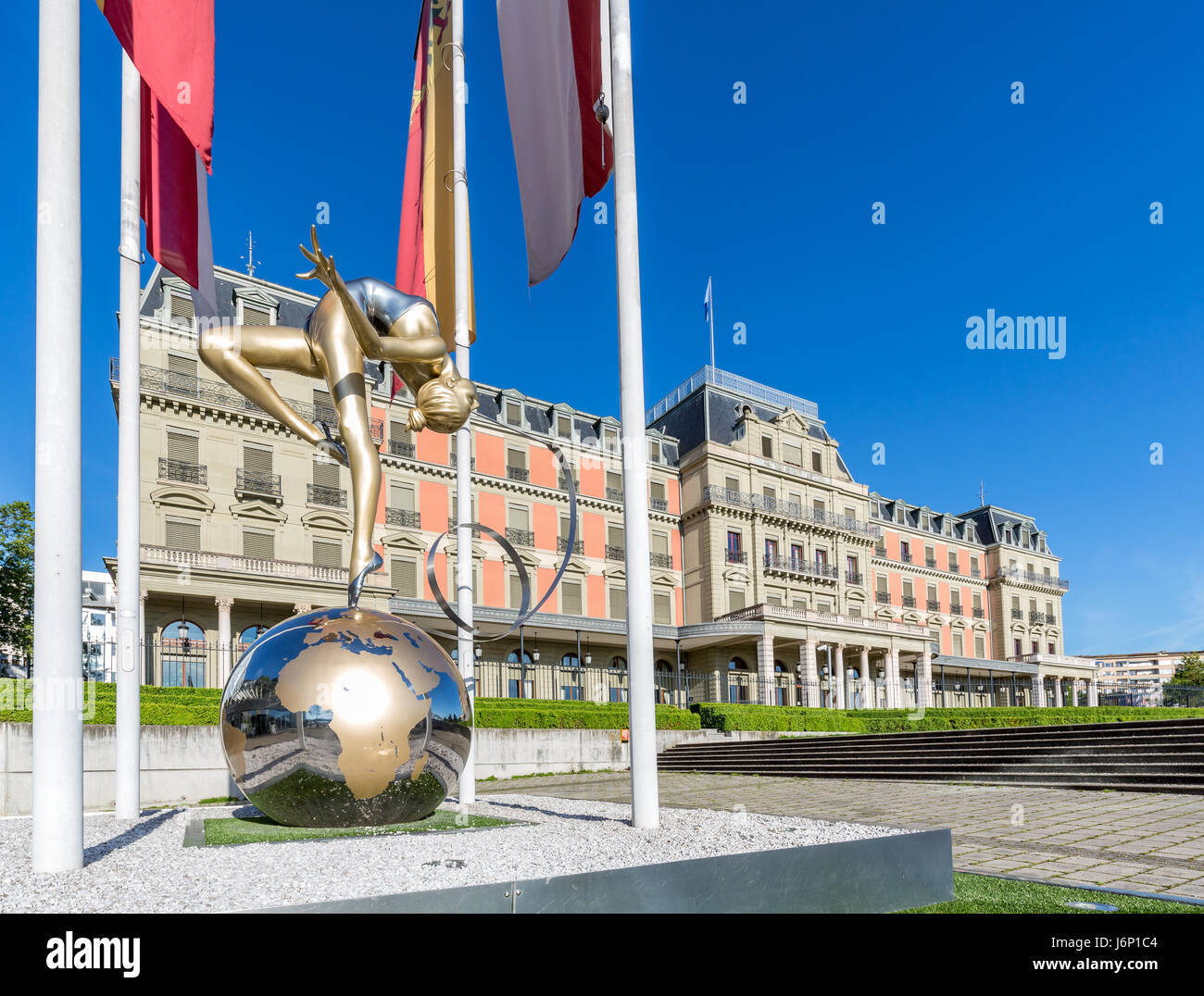 Palais Wilson, headquarters of the Office of the United Nations High Commissioner for Human Rights, OHCHR, Geneva, - Stock Image