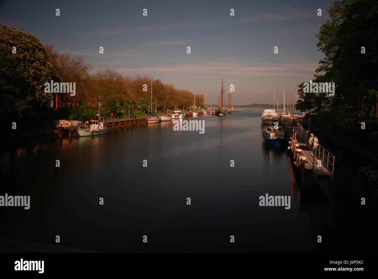 holtenau canal Stock Photo