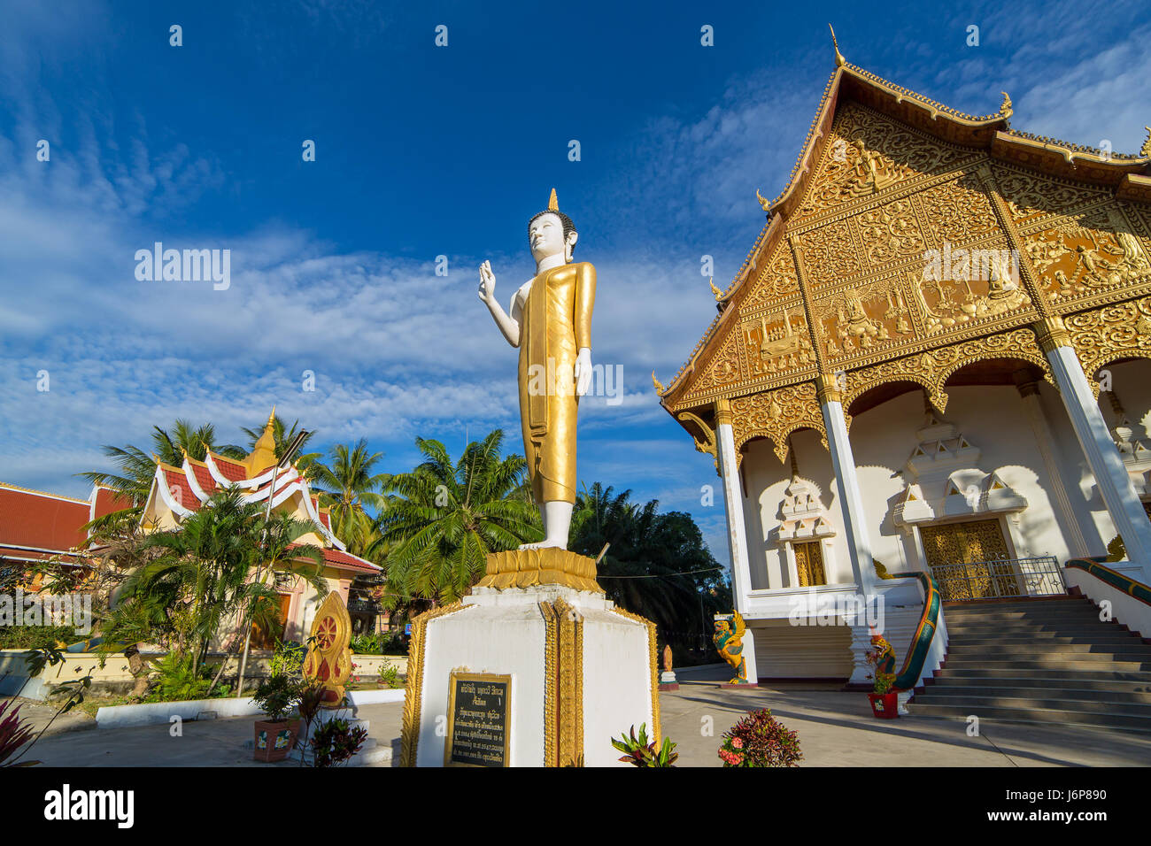 Wat Pha That Luang, Vientiane, Laos. - Stock Image