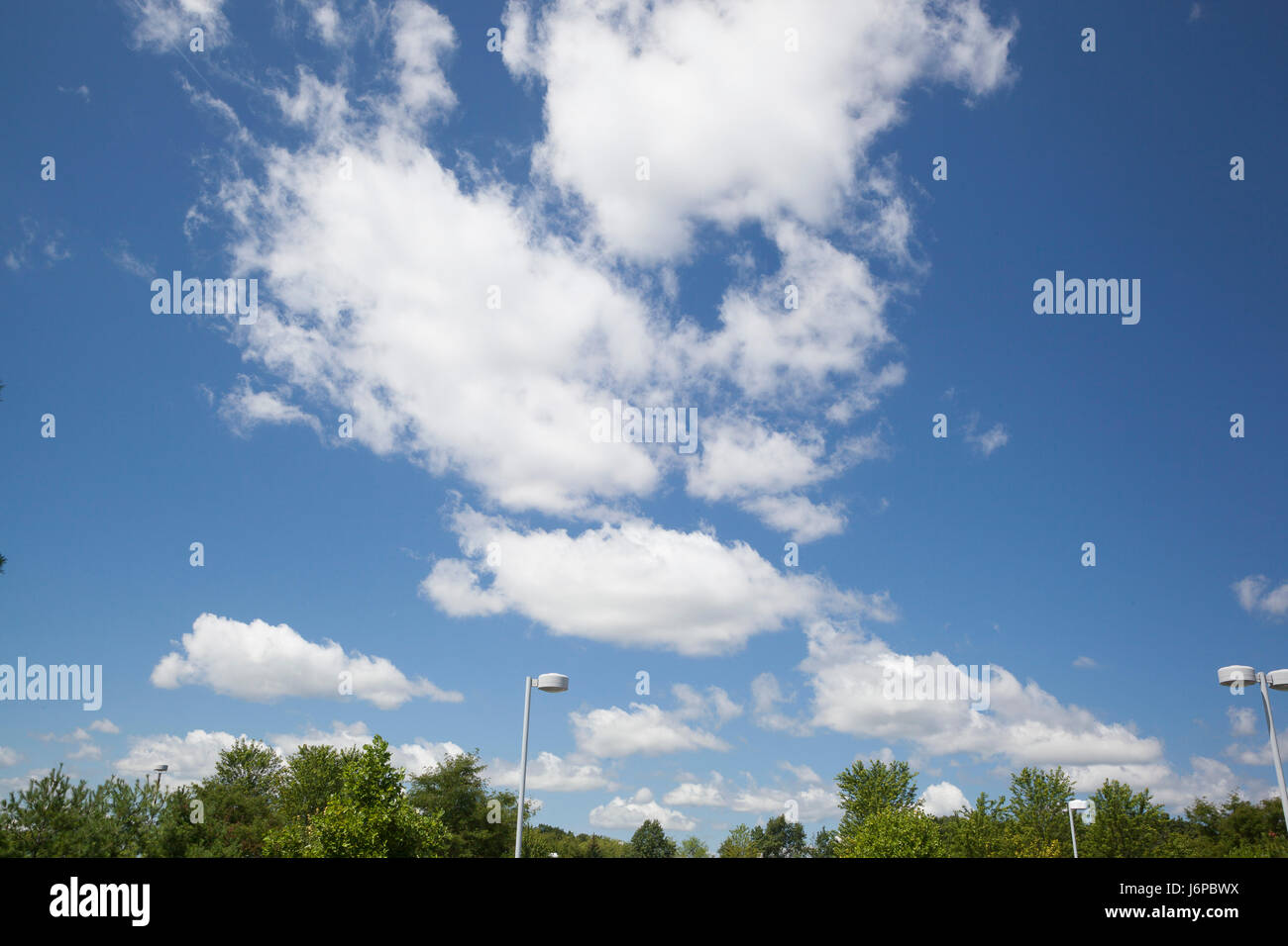 Fair weather cloud formations in Michigan - Stock Image