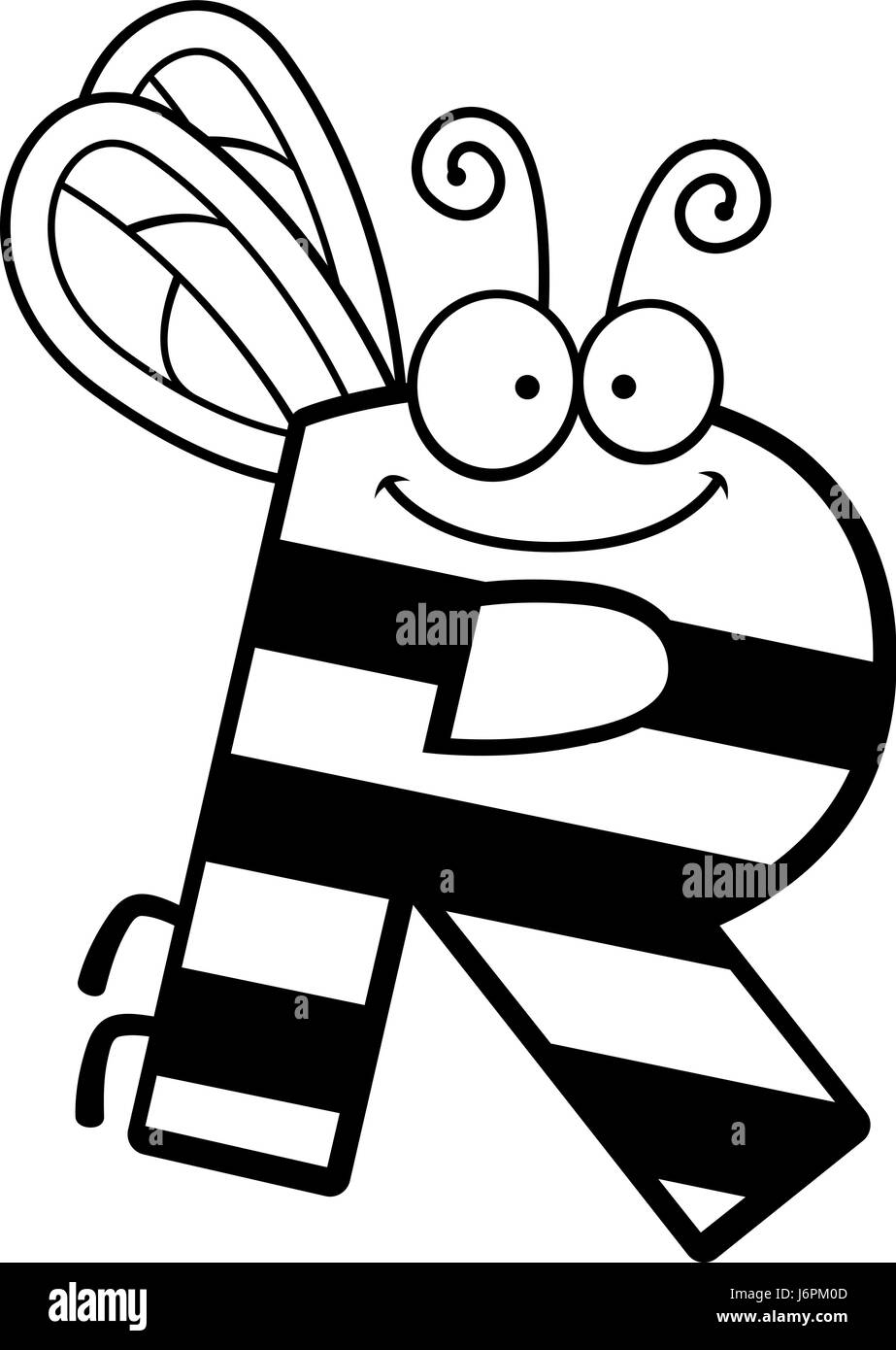 cartoon letter r black and white stock photos & images - alamy