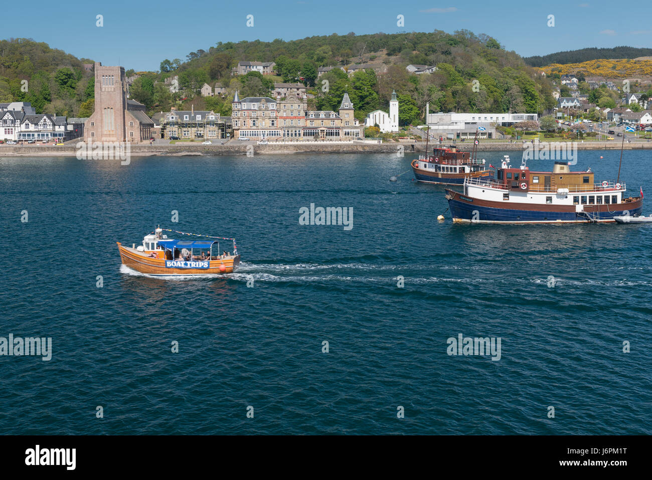 A harbour boat trip at Oban on the west coast of Scotland - Stock Image