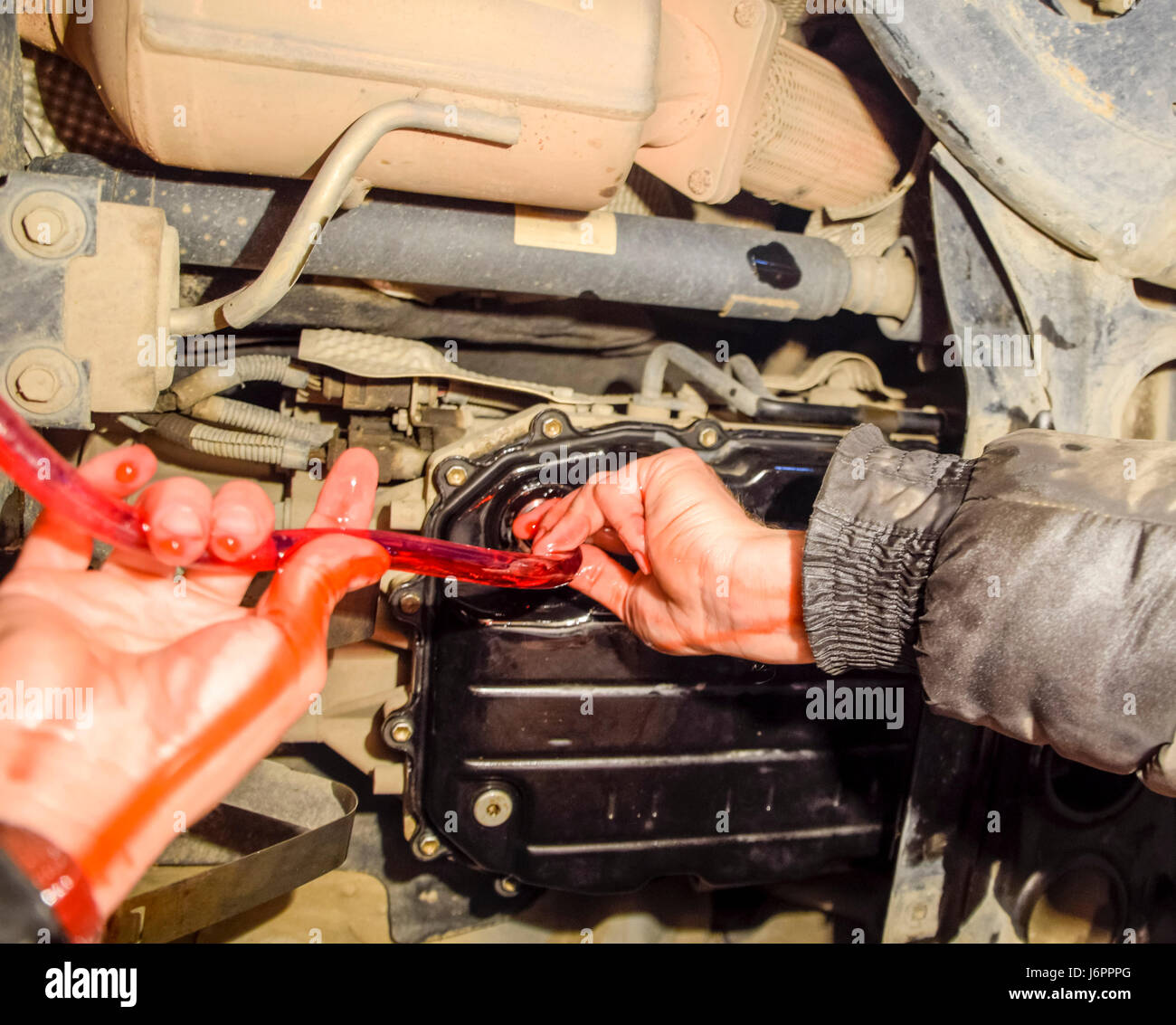 Oil Change In Automatic Transmission Filling The Oil