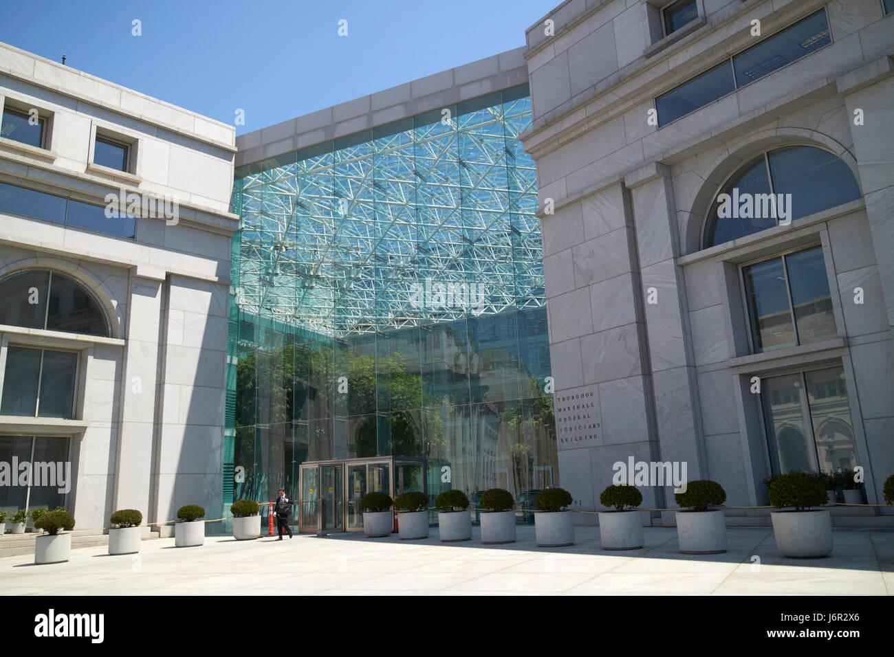 Thurgood Marshall Federal Judiciary Building Washington DC USA - Stock Image