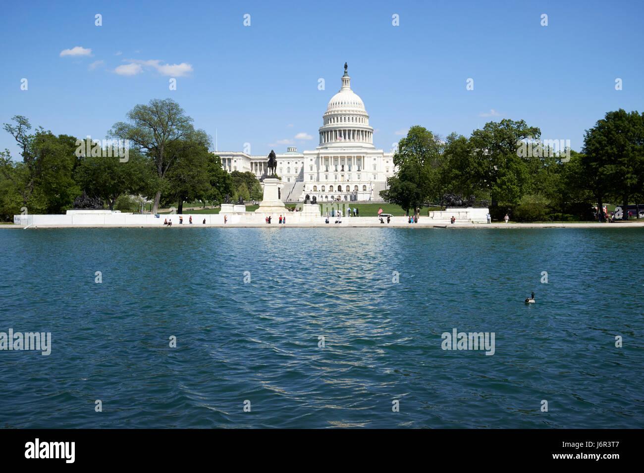 United States Capitol building and capitol reflecting pool Washington DC USA - Stock Image