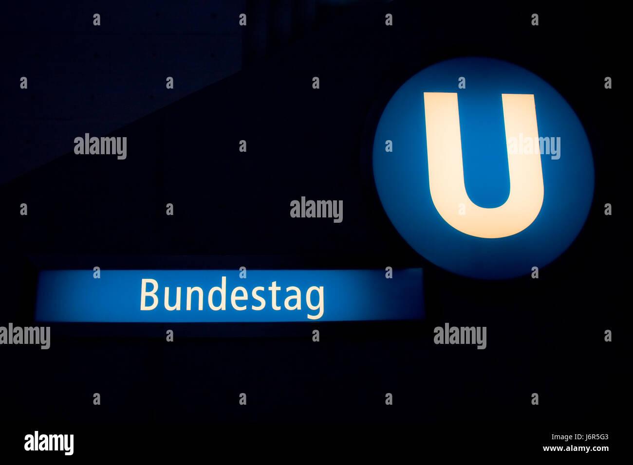 berlin - metro bundestag Stock Photo