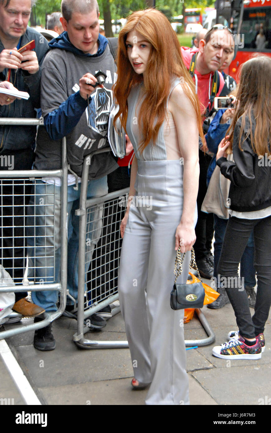 London, UK, 18/05/2017 Nicola Roberts of Girls Aloud arrives for the 2017 annual  Ivor Novello at the Cavendish - Stock Image