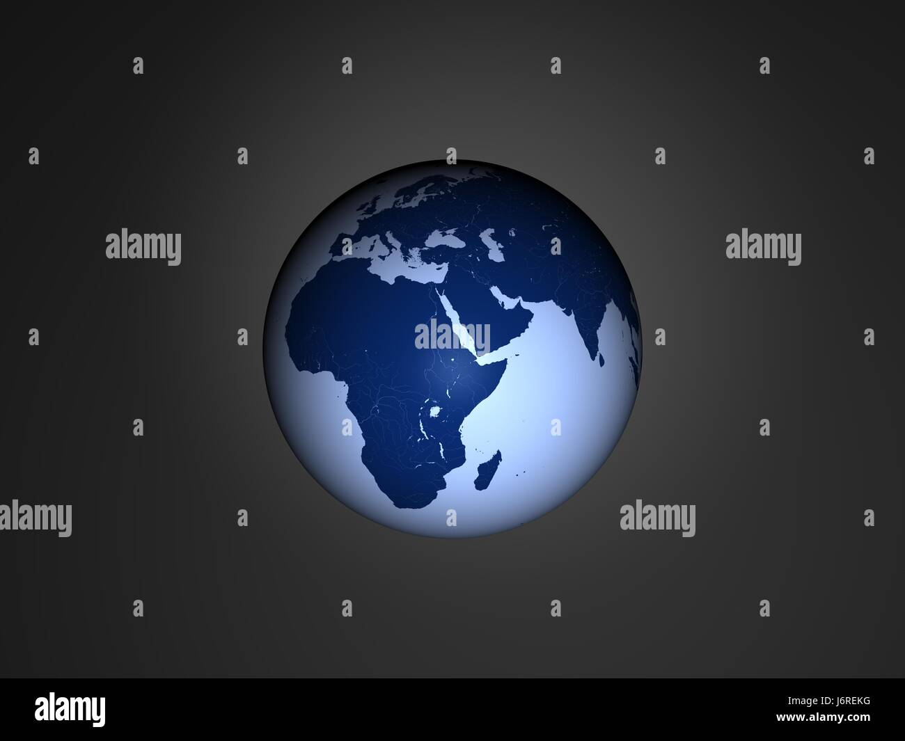 space africa face europe globe planet earth world double africa atlas - Stock Image