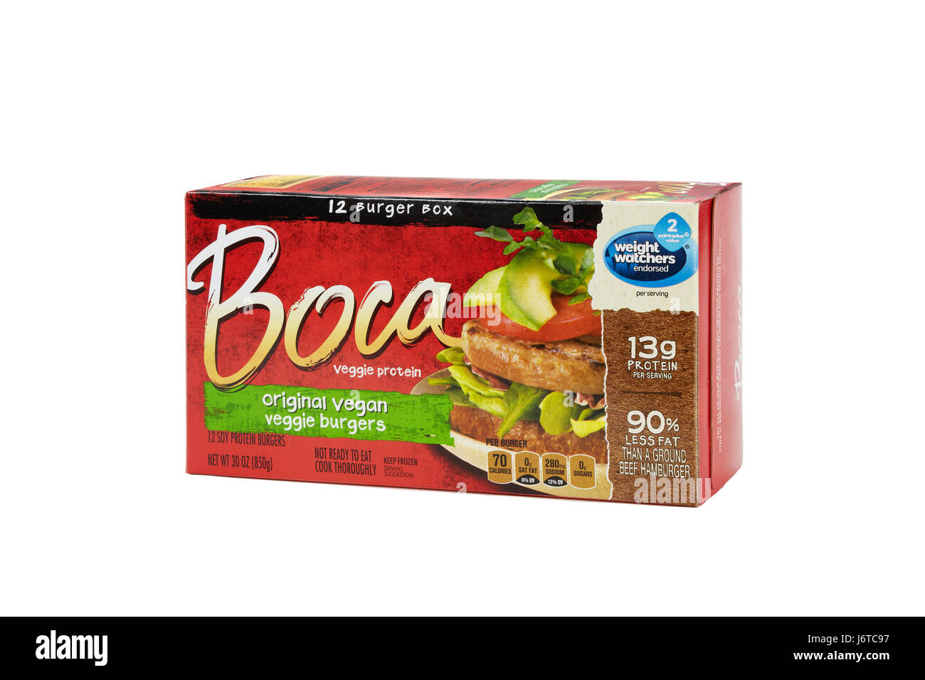 Boca Burger - Stock Image