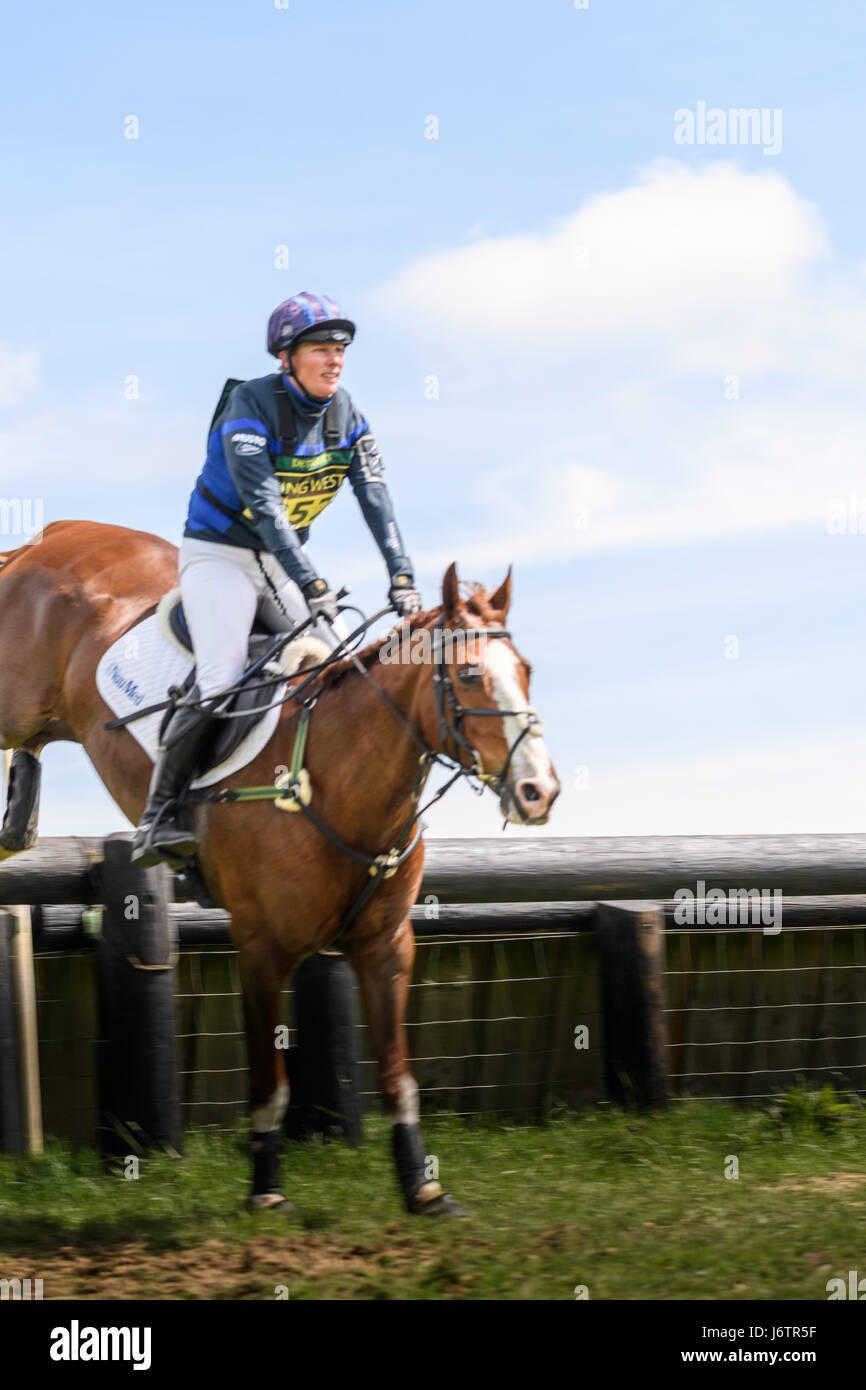 Rockingham Castle, Corby, UK. 21st May, 2017. Riding Big Class Affair, Zara Tindall (granddaughter of Queen Elizabeth Stock Photo
