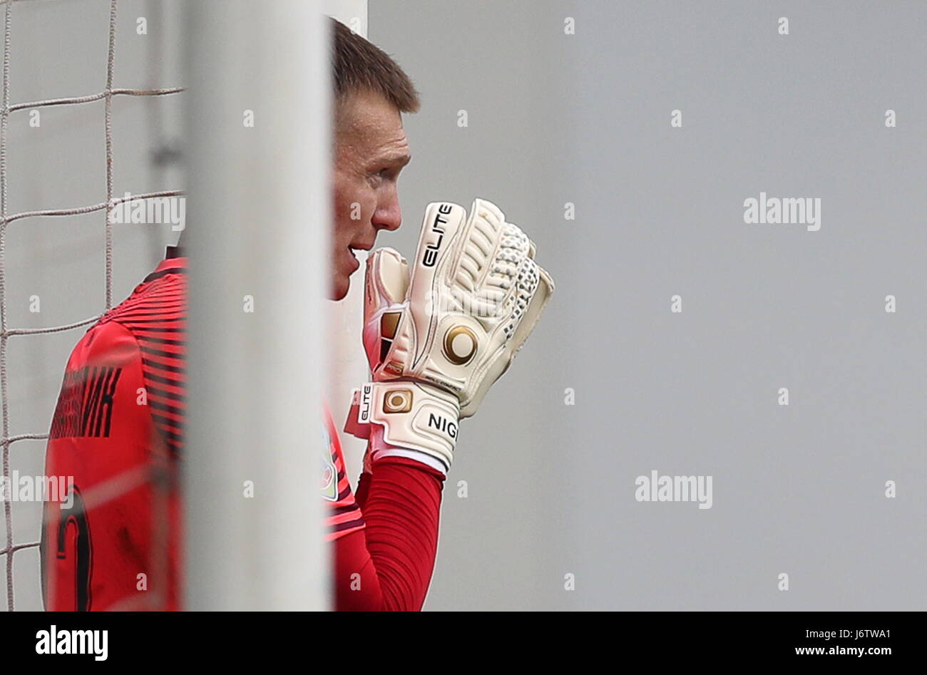 Moscow Region, Russia. 20th May, 2017. Tosno's goalkeeper Artur Nigmatullin in their 2016/2017 Russian Football - Stock Image