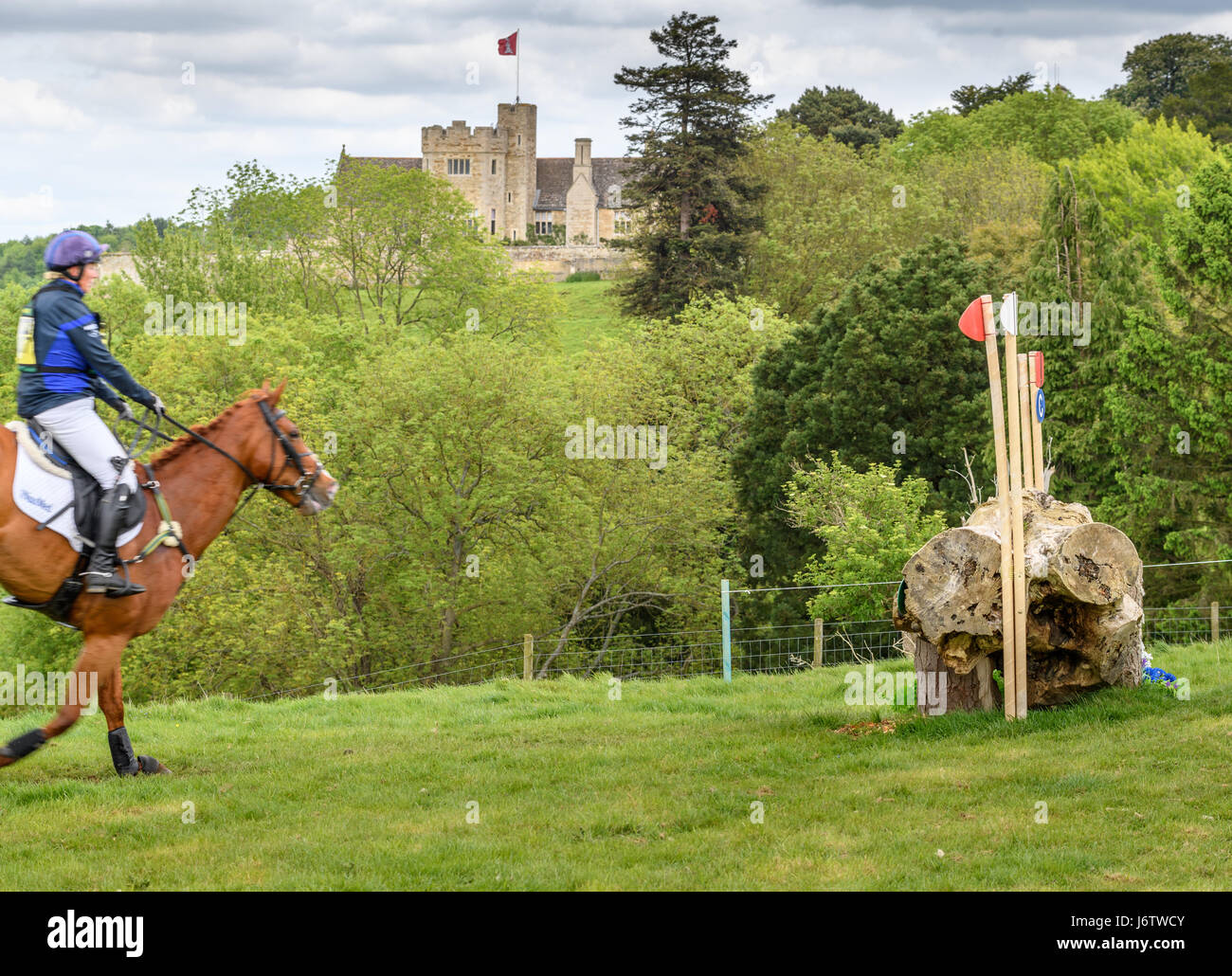Rockingham Castle, Corby, UK. 21st May, 2017. Riding Fernhill, Zara Tindall (granddaughter of Queen Elizabeth II Stock Photo