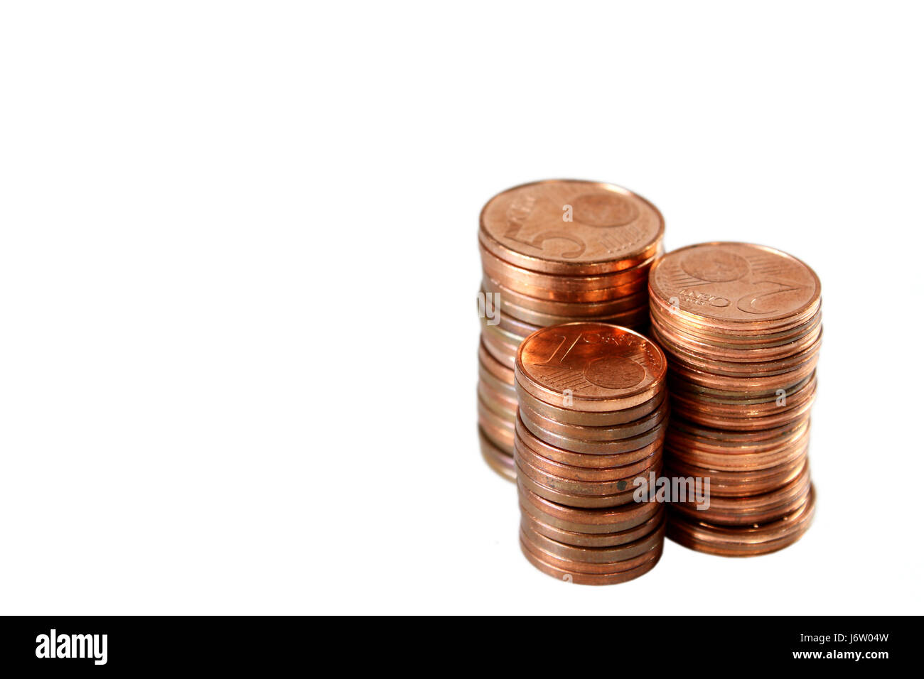 coins stack a cent five-wire element money isolated optional five ...