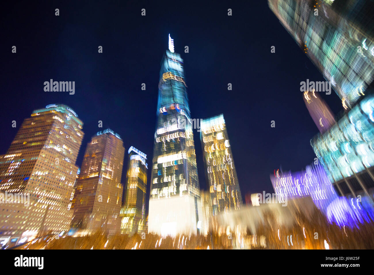 An abstract concept view of the World Trade Center in New York City - Stock Image