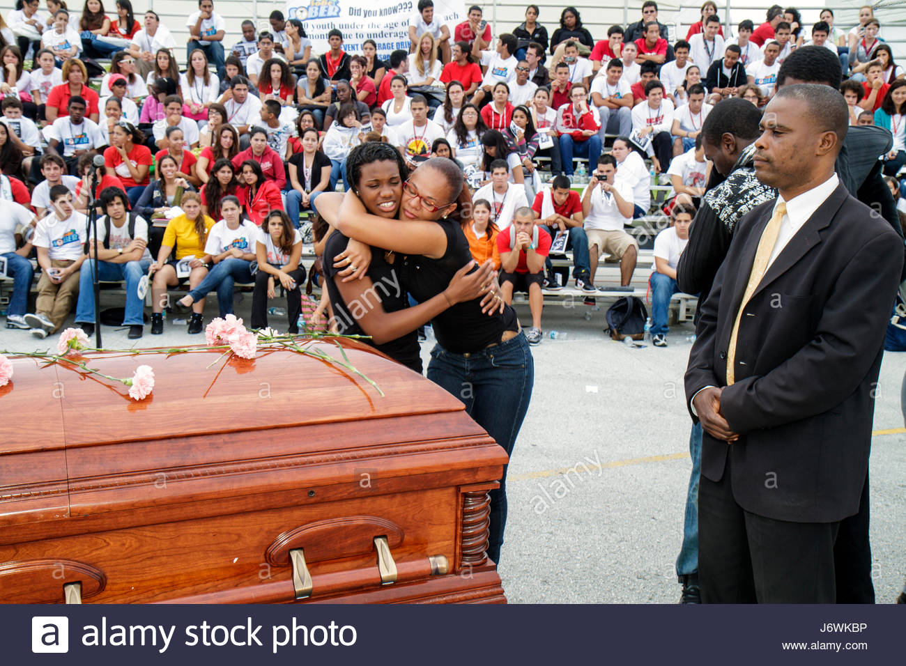 Miami Beach Miami Florida Beach High School Cheat the Reaper DUI simulated automobile accident drinking driving - Stock Image