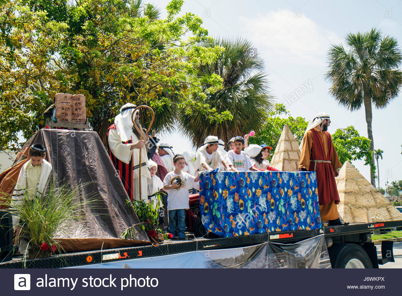 Miami Florida Hallandale South Florida Jewish Community Lag B'omer Jewish Unity Parade & and Fair Jew tradition - Stock Image
