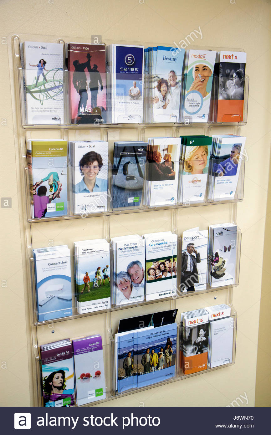 Miami Coral Gables Miami Florida doctor's office physician brochures information - Stock Image
