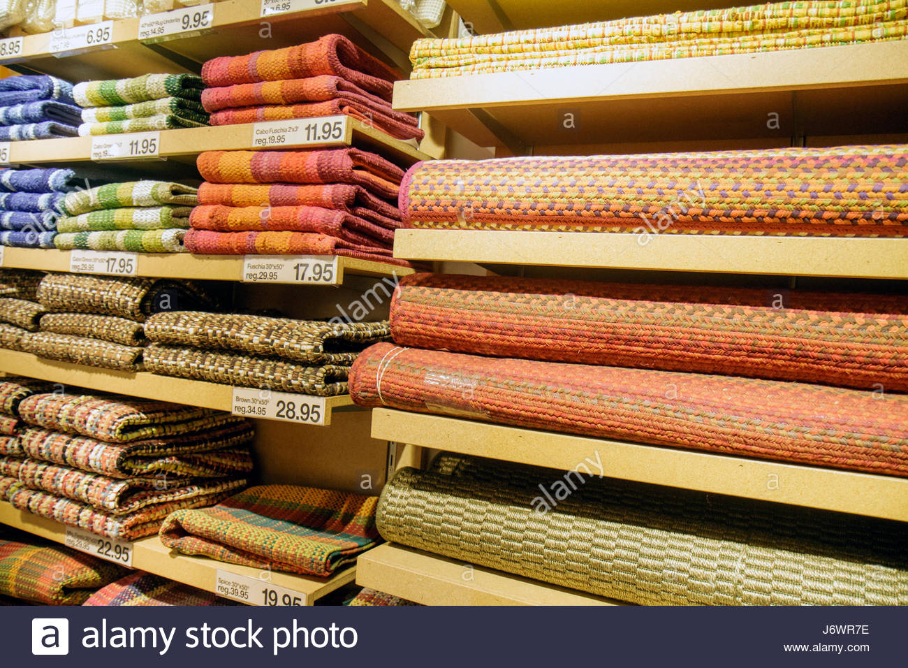 Fort Lauderdale Ft. Florida Sunrise Sawgrass Mills Mall shopping for sale retail display home furnishings floor - Stock Image