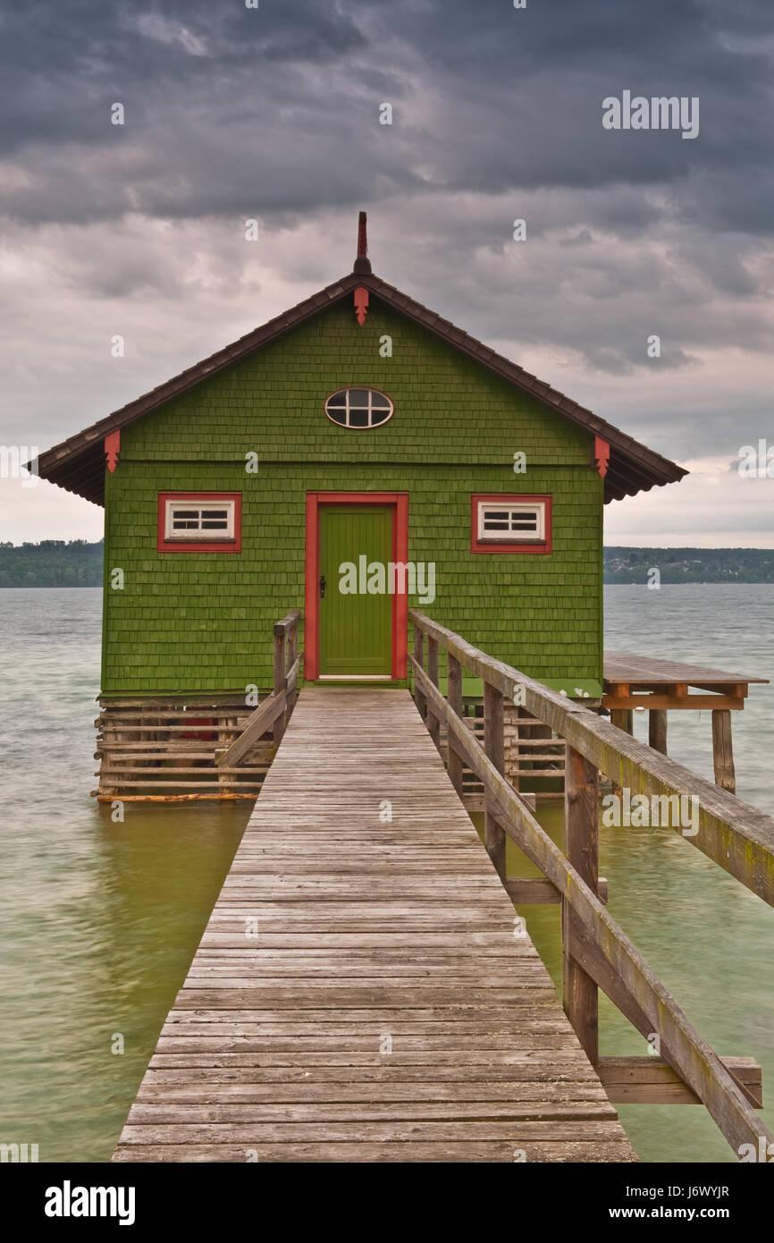 green boathouse ii Stock Photo