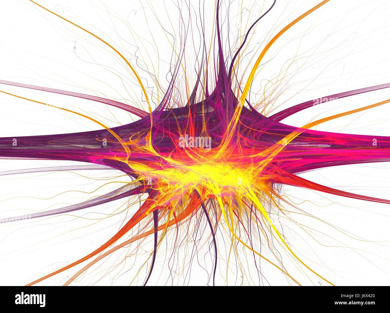 chaos cell abstract fractal anatomy brain nerve neuron motion Stock ...