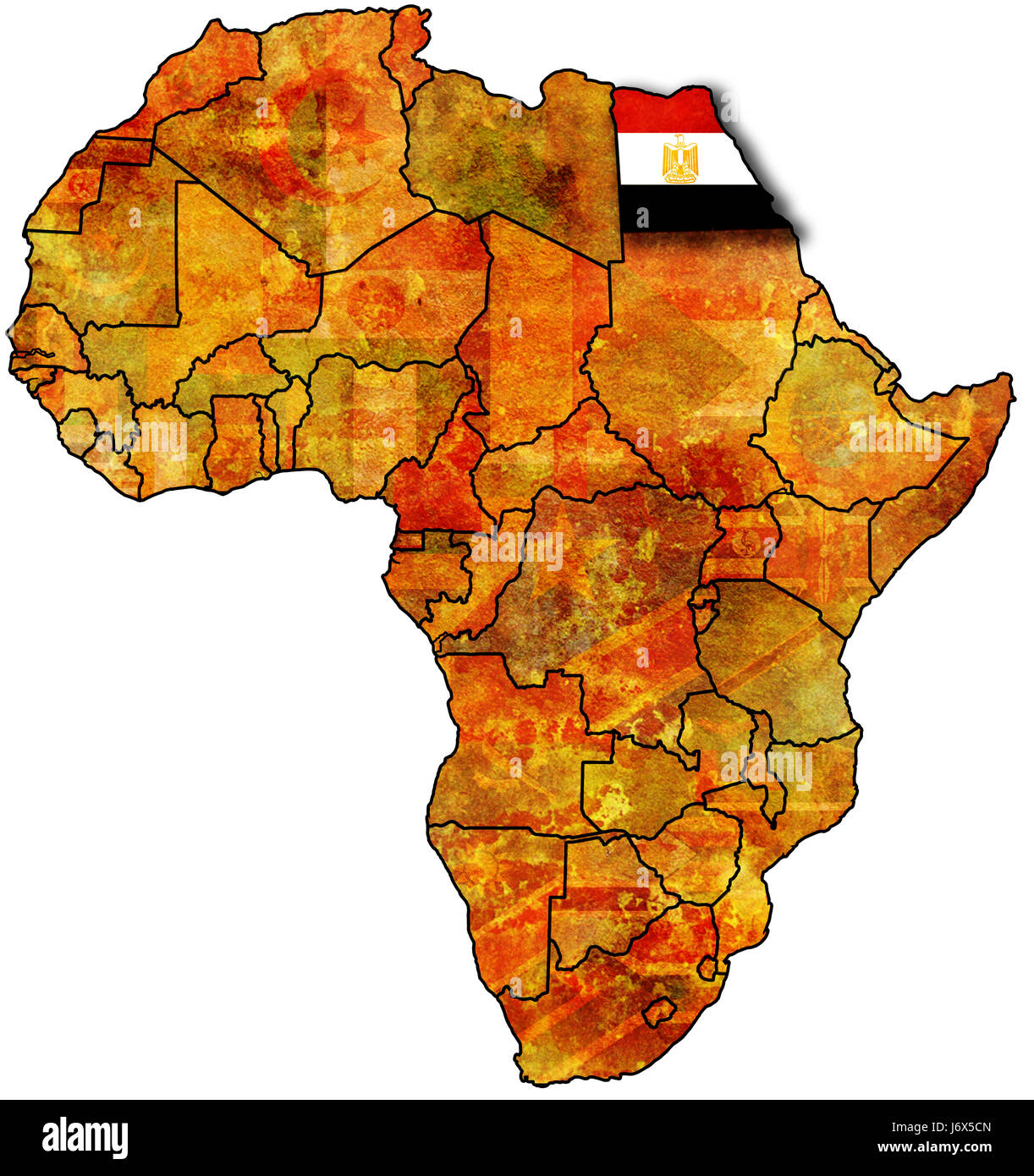Map Of Egypt And Africa egypt on africa map Stock Photo: 141945909   Alamy