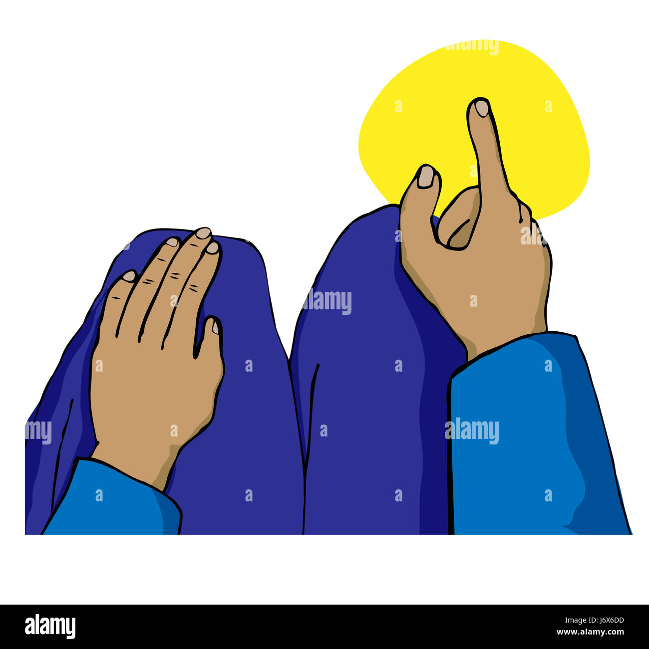 muslim prayer put sitting sit mecca finger religion religious closeup male - Stock Image