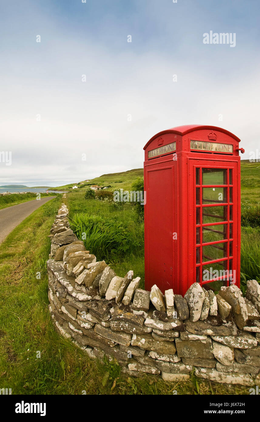 scotland british scottish red travel holiday vacation holidays vacations europe - Stock Image