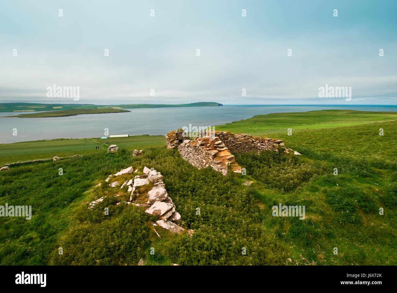 scotland island britain firmament sky salt water sea ocean water isle travel - Stock Image