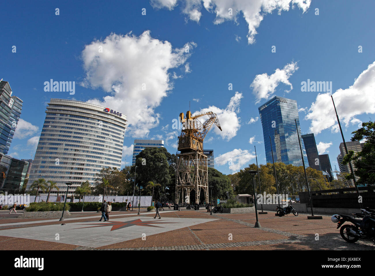 Downtown Buenos Aires, and area that has been totally redeveloped with regeneration of Warehouses, company buildings, - Stock Image