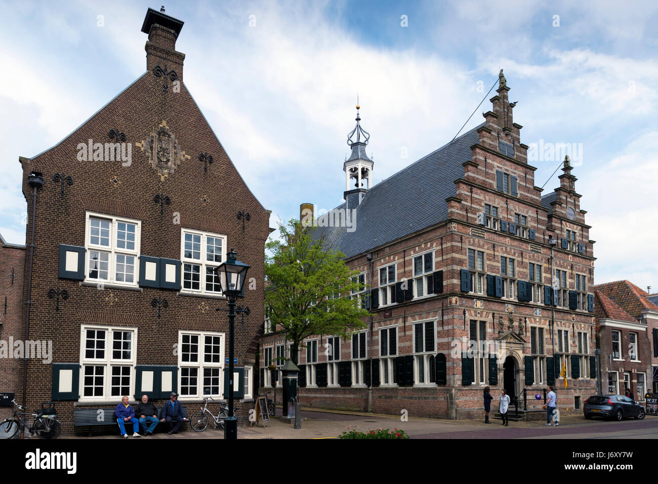 NAARDEN - NETHERLANDS - MAY 13, 2017: Town hall at Naarden. It is a city and former municipality in the Gooi region Stock Photo