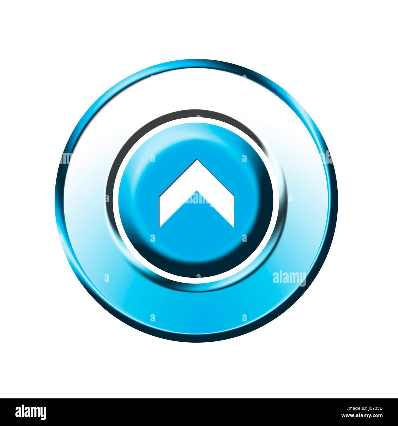 upwards upstairs direction button arrow isolated optional symbolic graphic Stock Photo