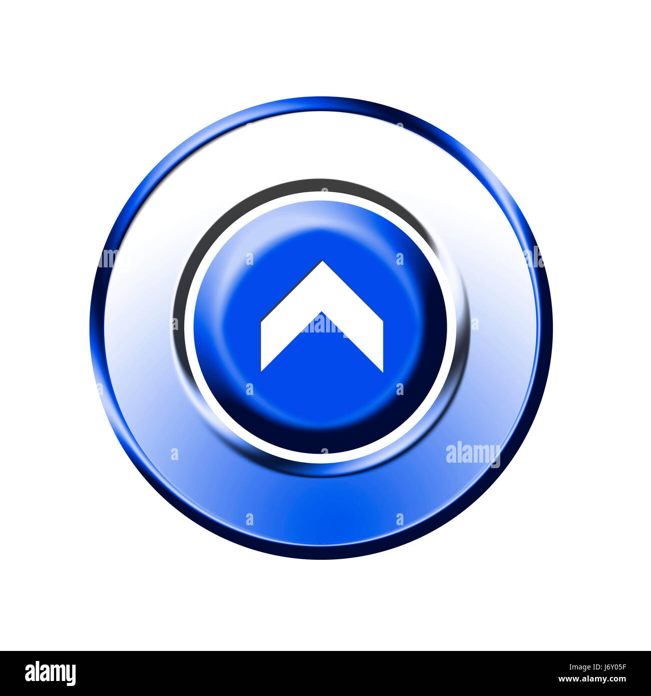 upwards upstairs direction button arrow isolated optional symbolic graphic Stock Photo