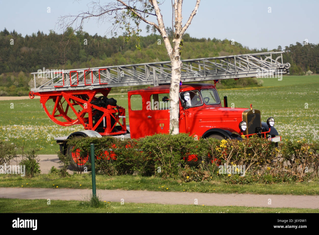 firemen-wagon Stock Photo