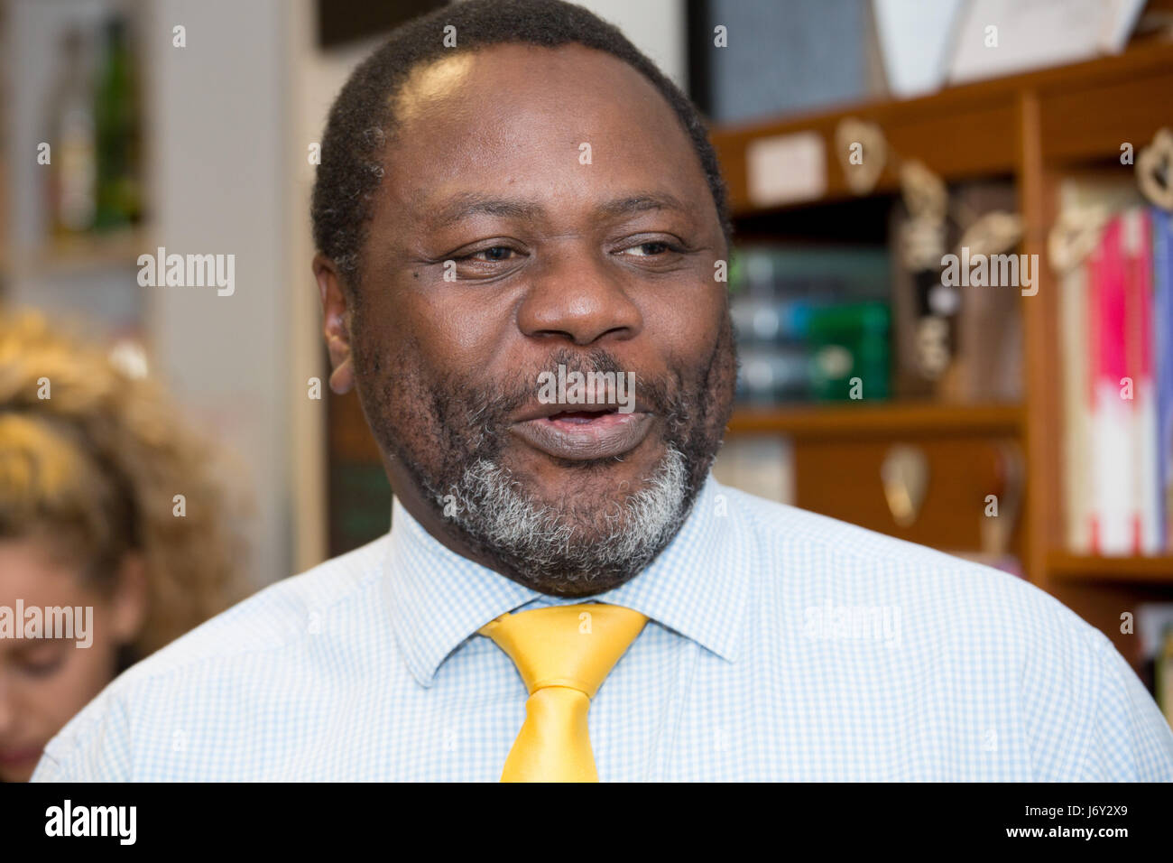 Ade Adeyeno, Liberal Democratic canidate for Solihull, West Midlands - Stock Image
