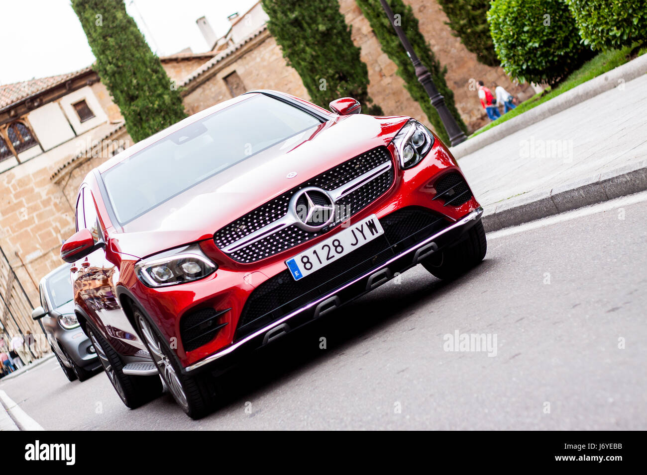 Mercedes Benz GLC 220 Coupe in the streets of Salamanca - Stock Image