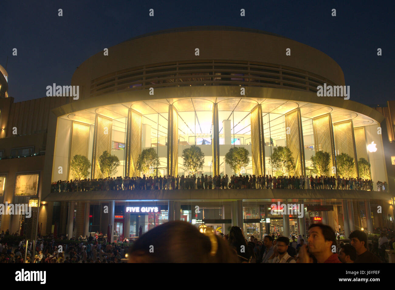 New Apple store in Mall of the Emirates, Dubai United Arab Emirates Stock Photo
