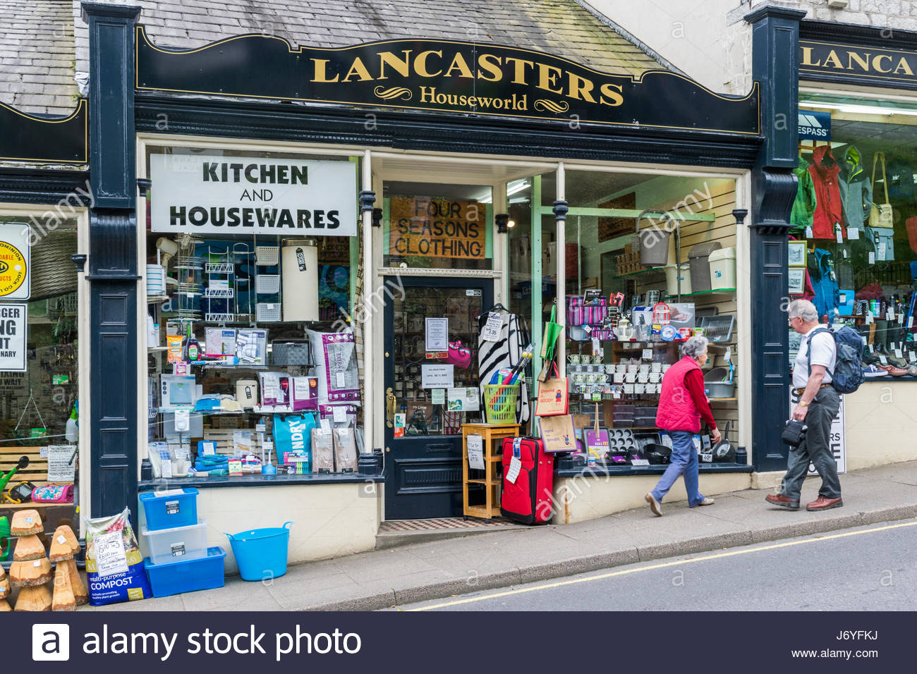Lancasters, a traditional hardware store in Grange over Sands, South Lakeland - Stock Image